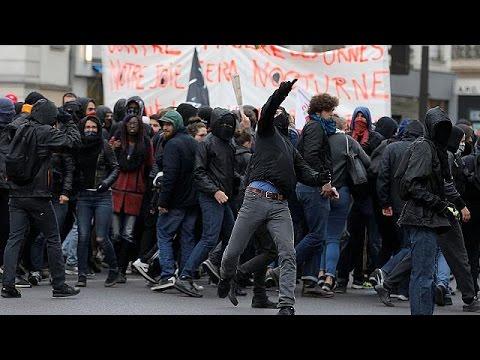 Βίαιη τροπή έλαβε διαδήλωση στο Παρίσι