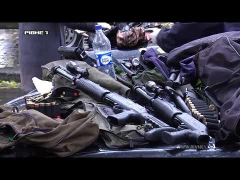 У Рівному протягом дня затримали авто зі зброєю та чоловіка з гранатою [ВІДЕО]