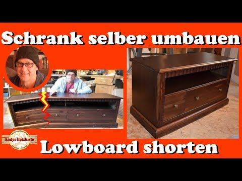 Schrank selber umbauen - Lowboard shorten