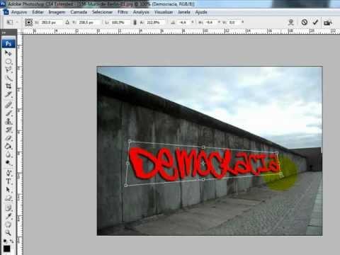 Perspectiva ao Texto ( Photoshop )
