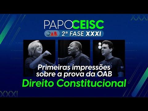 Análise da prova de 2ª Fase de Constitucional do XXXI Exame de Ordem.