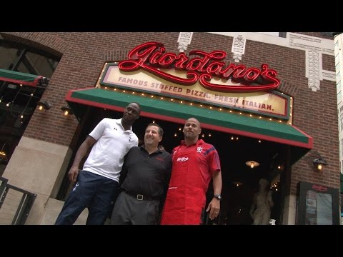 Video: C.J. Brown and Tottenham Hotspur legend Ledley King make pizza at Giordano's