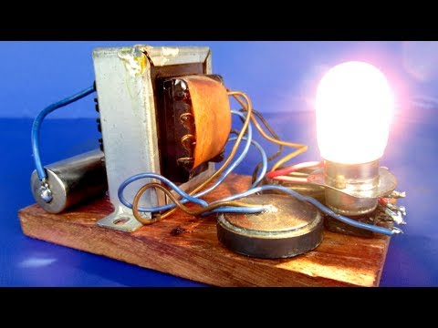 1 7V Generator To 12V - Free Energy Generator With Light Bulb - Science Experiment At Home