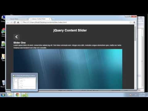 Learn jQuery by making a Content Slider - Part 3