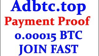 Website Link:- https://adbtc.top/r/l/112726Hi friends welcome to Technic Tech channel and today I am going to share Adbtc.top Payment Received  0.00015 Bitcoin Earned  Earn free Bitcoin without Investment .******************************************************************JOIN Technic Tech Whatsapp Group & Support us : https://chat.whatsapp.com/E1WSGkIMN551y5CzoEz2ep******************************************************************Like My Facebook Page :- https://www.facebook.com/TechnicTechFollow Me On Google+ :- https://plus.google.com/b/111856524282932590081Subscribe Me :- https://www.youtube.com/channel/UCn7tQqwYbs6ZLzhEN76uZ-A?sub_confirmation=1