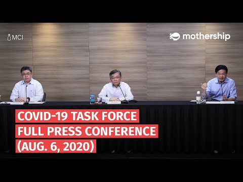 Covid-19 in Singapore: Full Press Conference by the Multi-Ministry Task Force on Aug. 6, 2020