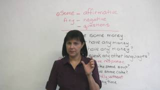 Some and Any, Common English Errors