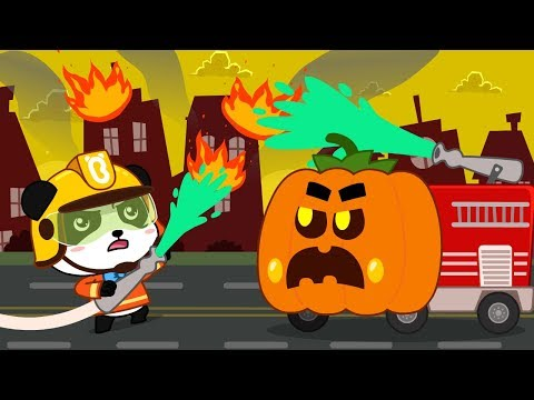 Action! Halloween Fire Truck | Halloween Party | Halloween Cartoon | Halloween Costumes | BabyBus