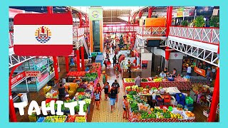 TAHITI, the Central Market of PAPE'ETE of French Polynesia in the Pacific Ocean: Let's explore this fascinating market, The...