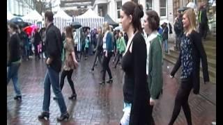 St Patricks Day Irish Flash Mob 17.3.12 Ipswich Suffolk UK