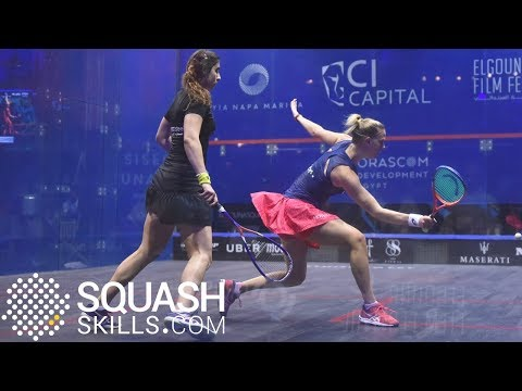 Squash tips: Short shots opening the back court with Laura Massaro