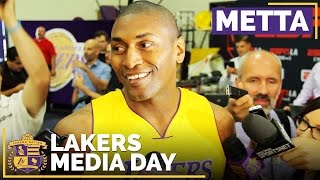 Lakers Media Day 2016: Metta World Peace by Lakers Nation