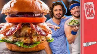 Ultimate Cheat Day Cheeseburger ft The Body Coach | FridgeCam by SORTEDfood