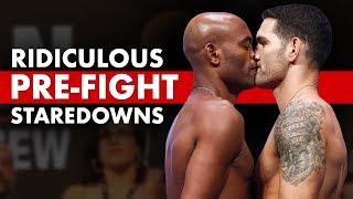Video 10 Ridiculously Hilarious Pre-Fight Staredowns MP3, 3GP, MP4, WEBM, AVI, FLV Juli 2019