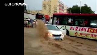 Yulin (Shaanxi) China  city photos gallery : Torrential rainstorm ravages China