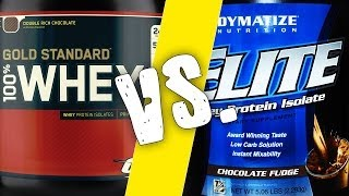 Optimum Nutrition 100% Gold Standard Whey Versus Dymatize Nutrition Elite Whey