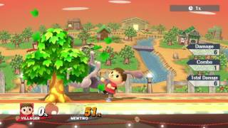 SSB4 – Villager's Jablock Infinite with no Perfect Pivots (Tree-Assisted)