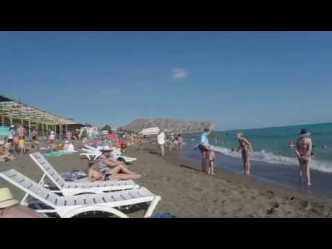 Судак (Крым). Оценка числа туристов на пляже