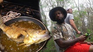 Video SWAMP BASS FISHING ON THE BAYOU! Cooking With Chef O Nasty Country Style MP3, 3GP, MP4, WEBM, AVI, FLV September 2018