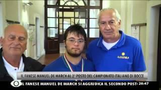 Manuel De March Vice Campione Italiano Bocce FISDIR/FIB 2013 Roma