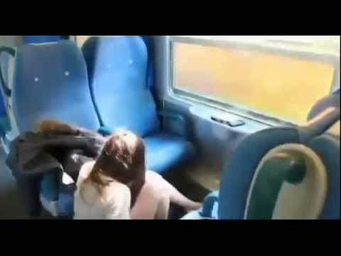 NEW --- Girl almost gets head chopped off by TRAIN 10.16.2012