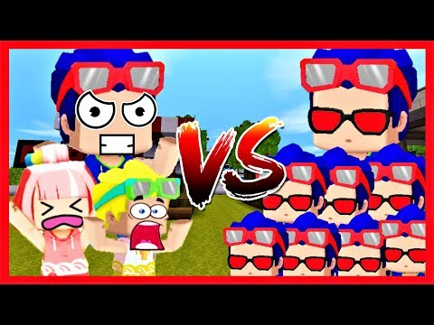 Mini world: Bộ 3 bá đạo vs 1000 Phong Cận Yandere   Thử thách tiêu diệt Yandere lấy 100 kim cương - Thời lượng: 12 phút.