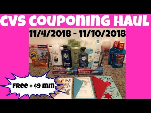 CVS COUPONING HAUL 11/4/2018 - 11/10/2018 | FREE + $9 MM