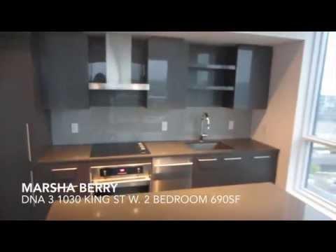Marsha Berry Toronto Real Estate 1030 King St W. DNA 3 Condos 2 Bedroom 690SF