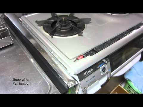 Rinnai state of the art gas stove with safety sensor and alarm.