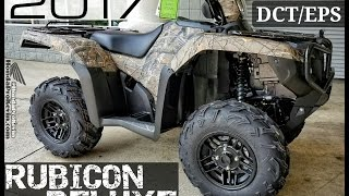 10. 2017 Honda Foreman Rubicon Deluxe 500 DCT / EPS ATV | Walk-Around Video (Camo TRX500FA7H)