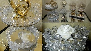 Dollar Tree DIY Elegant Bathroom/Vanity Display Accessories| DIY Glam 2 Tier Stand