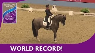 Charlotte Dujadin's World Record Breaking Freestyle - Reem Acra FEI World Cup™ Dressage 2013/14