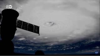 O Irma visto do espaço com ventos de até 295 km/h