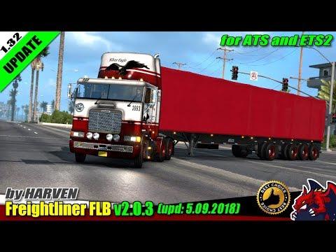 [ATS] Freightliner FLB edited v2.0.3 1.32.x