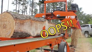 Video I Made a HUGE Rookie Mistake Milling this Sweet Gum Log! MP3, 3GP, MP4, WEBM, AVI, FLV Mei 2019