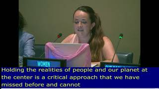 Marie Claire's intervention at the HLPF 2017: UN Web TV - http://webtv.un.org