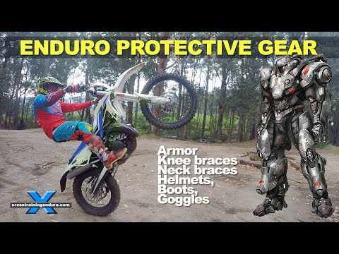 WHICH ENDURO PROTECTIVE GEAR?: Armor, boots, helmets, neck braces, knee braces, goggles