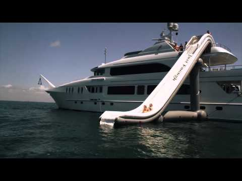 The FreeStyle Cruiser Inflatable Yacht Slide