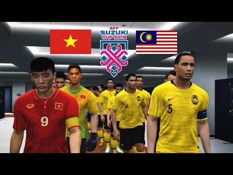 Malaysia Vs Vietnam - Final Leg 1 AFF Suzuki Cup | PES 2017 Gameplay PC