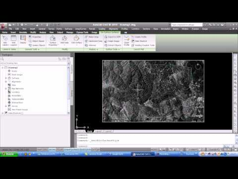 Tutorial Autocad Civil 3D-Importar datos de Google Earth
