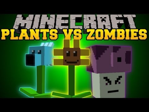 Minecraft : Plants Vs. Zombies (Plants that battle against zombies!) Mod Showcase