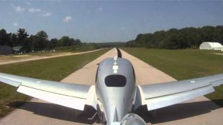 SR-22 short field landing demonstration