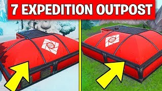 Visit all Expedition Outposts - ALL 7 LOCATIONS WEEK 7 CHALLENGES FORTNITE SEASON 7