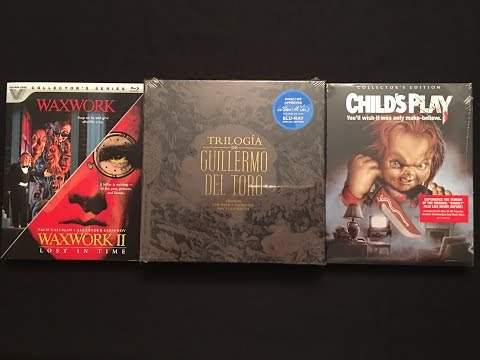 Trilogia De Guillermo Del Toro Criterion Blu-ray Unboxing With Child's Play & Waxwork Double Feature