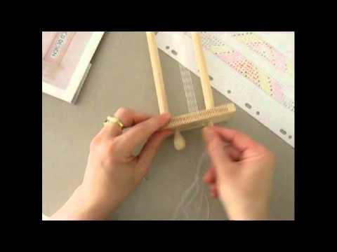 Utilisation métier à tisser les perles