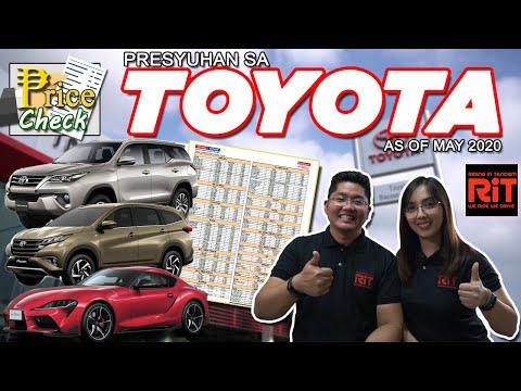 Toyota Pricelist 2020 Philippines : Presyo ng Toyota sa Pilipinas