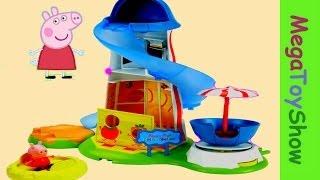 Peppa Pig Theme Park Helter Skelter Playset for kids