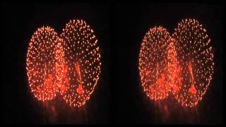 Ebisukou Fireworks Festival 2010 In Stereo 3D / 長野えびす講花火大会より - 立体映像