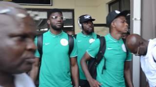 Uyo Nigeria  city pictures gallery : Nigeria Super Eagles Arrive Uyo