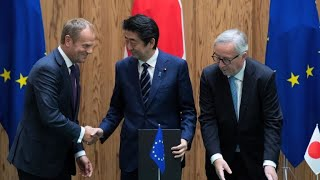 Nonton Eu  Japan Sign Trade Deal In  Message Against Protectionism  Film Subtitle Indonesia Streaming Movie Download